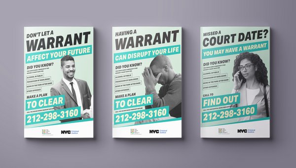 Three proposed posters for the outreach campaign