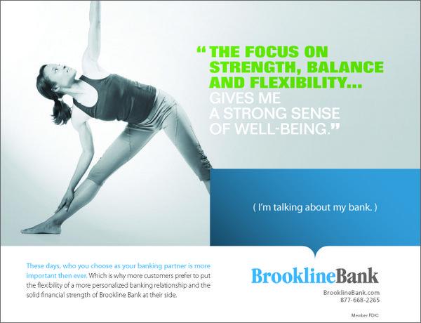 Brookline bank yoga ad