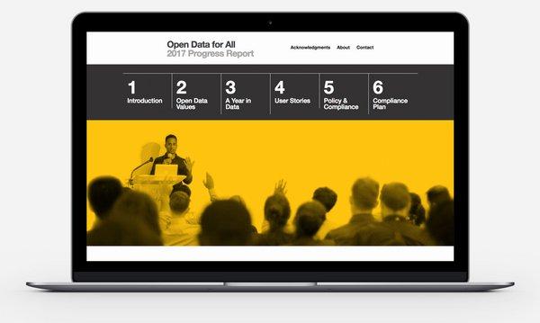 2017 Open Data Report website